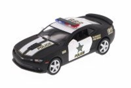 2014 Chevy Camaro Police, Black - Kinsmart 5383DP - 1/38 Scale Diecast Model Toy Car (Brand New, but NOT IN BOX)