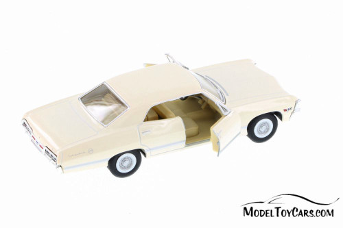 1967 Chevy Impala Hard Top, White - Kinsmart 5418D - 1/43 Scale Diecast Model Toy Car
