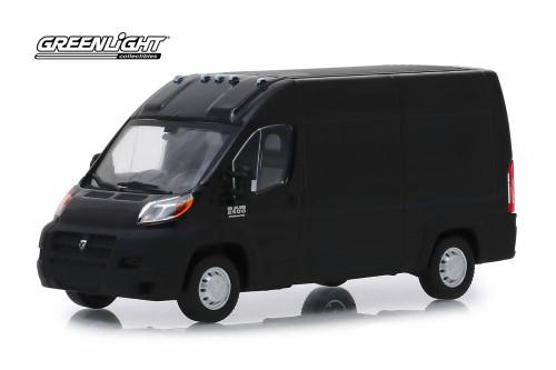 2018 Dodge Ram ProMaster 2500 Cargo Van High Roof, Brilliant Black - Greenlight 86153 - 1/43 Scale Diecast Model Toy Car