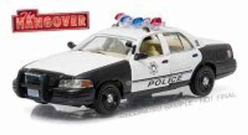 2000 Ford Crown Victoria Police Interceptor, The Hangover - Greenlight 86506 - 1/43 scale Diecast Model Toy Car