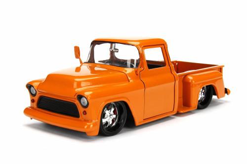 1955 Chevy Pick Up, Orange - Jada 99042DP1 - 1/24 Scale Diecast Model Toy Car