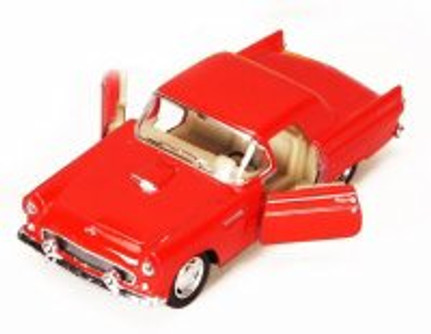 1955 Ford Thunderbird, Red - Kinsmart 5319D - 1/36 scale Diecast Model Toy Car (Brand New, but NOT IN BOX)