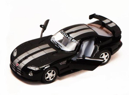 Dodge Viper GTS-R, Black - Kinsmart 5039D - 1/36 scale Diecast Model Toy Car (Brand New, but NOT IN BOX)