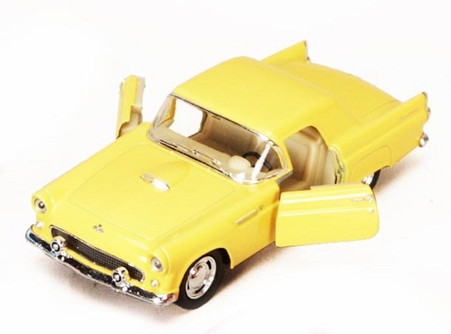 1955 Ford Thunderbird, Yellow - Kinsmart 5319D - 1/36 scale Diecast Model Toy Car (Brand New, but NOT IN BOX)