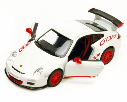 2010 Porsche 911 GT3 RS, White - Kinsmart 5352D - 1/36 scale Diecast Model Toy Car (Brand New, but NOT IN BOX)