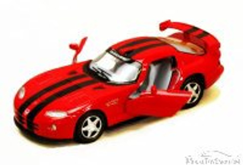 Dodge Viper GTS-R Hard Top, Red with Black Stripes - Kinsmart 5039DA - 1/36 Scale Diecast Model Replica (Brand New, but NOT IN BOX)