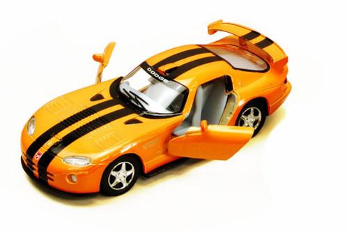 Dodge Viper GTS-R Hard Top, Orange with Black Stripes - Kinsmart 5039DA - 1/36 Scale Diecast Model Replica (Brand New, but NOT IN BOX)