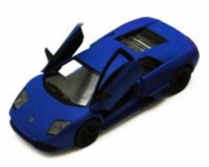 Lamborghini Murcielago LP640, Blue - Kinsmart 5370D - 1/36 scale Diecast Model Toy Car (Brand New, but NOT IN BOX)