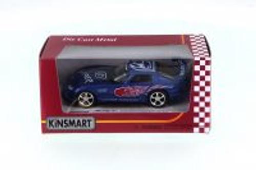 Dodge Viper Race Car #03 w/ decals, Blue - Kinsmart 5039FWBU - 1/36 Scale Diecast Model Toy Car
