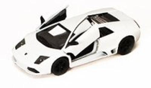 Lamborghini Murcielago LP640, White - Kinsmart 5317D - 1/36 scale Diecast Model Toy Car