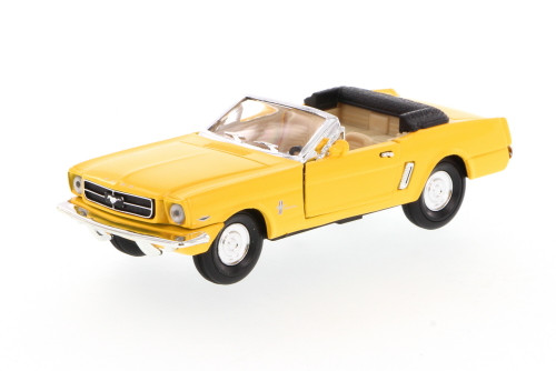 1965 Ford Mustang Convertible, Yellow - Superior 5719 - 1/34 scale diecast model car