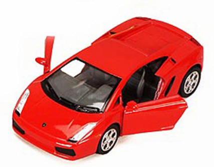 Lamborghini Gallardo Sports Car, Red - Kinsmart 5098D - 1/32 scale Diecast Model Toy Car