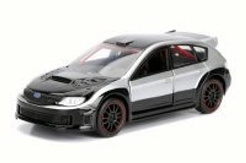 "Brian's Subaru Impreza WRX STI F8 ""The Fate of the Furious"" Movie, Silver/Black - Jada 98507 - 1/32 Scale Diecast Model Toy Car"