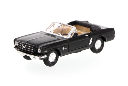 1965 Ford Mustang Convertible, Black - Superior 5719 - 1/34 scale diecast model car