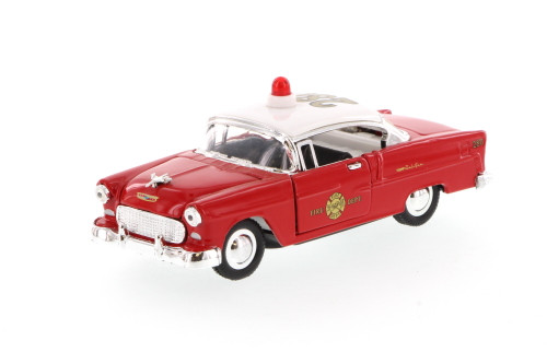 1955 Chevrolet Bel Air Fire Chief Car, Red - Superior 5420D - 1/34 scale diecast model car