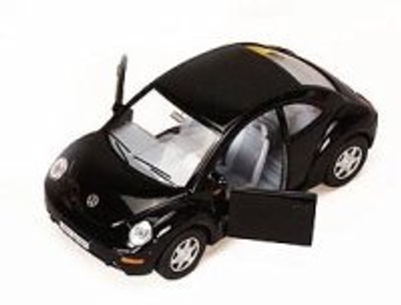 Volkswagen New Beetle, Black - Kinsmart 5028D - 1/32 scale Diecast Model Toy Car (Brand New, but NOT IN BOX)