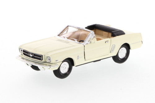 1965 Ford Mustang Convertible, Cream - Superior 5719 - 1/34 scale diecast model car
