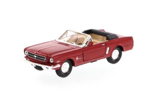 1965 Ford Mustang Convertible, Red - Superior 5719 - 1/34 scale diecast model car