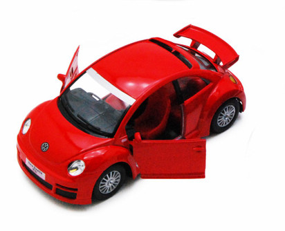 Volkswagen New Beetle Rsi, Red - Kinsmart 5058D - 1/32 scale Diecast Model Toy Car