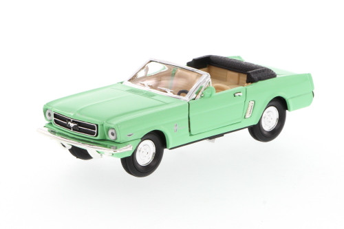 1965 Ford Mustang Convertible, Teal - Superior 5719 - 1/34 scale diecast model car