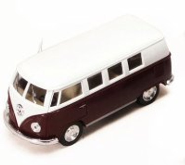 1962 Volkswagen Classic Bus, Brown - Kinsmart 5060D - 1/32 scale Diecast Model Toy Car (Brand New, but NOT IN BOX)