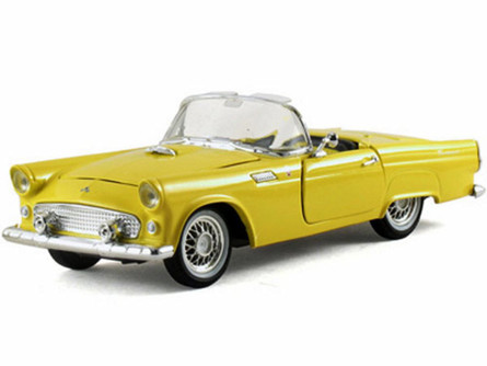 1955 Ford Thunderbird Convertible, Yellow - Arko 05521 - 1/32 Scale Diecast Model Toy Car