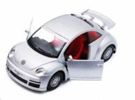 Volkswagen New Beetle Rsi, Silver - Kinsmart 5058D - 1/32 scale Diecast Model Toy Car (Brand New, but NOT IN BOX)