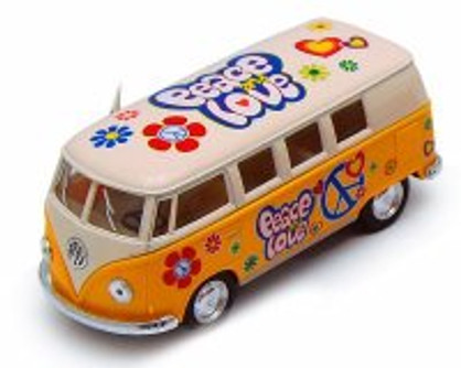 1962 Volkswagen Classical Bus, Yellow - Kinsmart 5377DF - 1/32 scale Diecast Model Toy Car (Brand New, but NOT IN BOX)