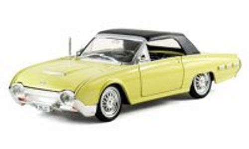 1962 Ford Thunderbird Sport Roadster Soft Top, Yellow - Arko 06201 - 1/32 Scale Diecast Model Toy Car