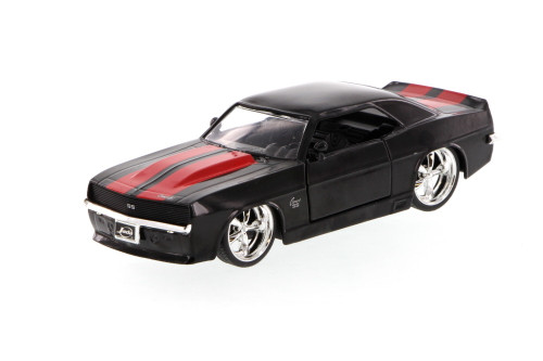 1969 Chevy Camaro, Black w/red stripes -  96949 - 1/32 scale Diecast Model Toy Car (Brand New, but NOT IN BOX)