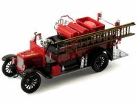 1926 Ford Model T Detroit Fire Truck, Black and Red - Signature Models 32313 - 1/32 Scale Diecast Model Toy Car
