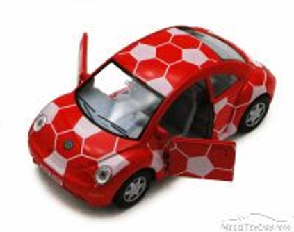 Volkswagen New Beetle, Red - Kinsmart 5028DR - 1/32 Scale Diecast Model Replica (Brand New, but NOT IN BOX)