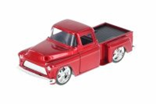 1955 Chevy Stepside Pickup Truck, Red - Jada 97011 - 1/32 Scale Diecast Model Toy Car (Brand New, but NOT IN BOX)