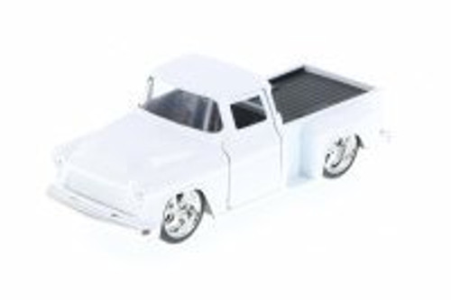 1955 Chevy Stepside Pickup Truck, White - Jada 97011 - 1/32 Scale Diecast Model Toy Car (Brand New, but NOT IN BOX)