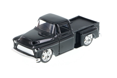 1955 Chevy Stepside Pickup Truck, Black - Jada 97011 - 1/32 Scale Diecast Model Toy Car (Brand New, but NOT IN BOX)