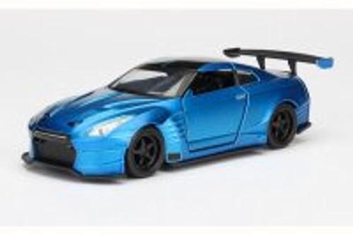 2009 Brian's Nissan GTR R35 Ben Supra F8 Fate of Furious, Primer Candy Blue - Jada 98270 - 1/32 Scale Diecast Model Toy Car