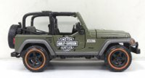 Jeep Wrangler Rubicon, Green - Maisto HD Custom 32190GN - 1/27 scale diecast model car