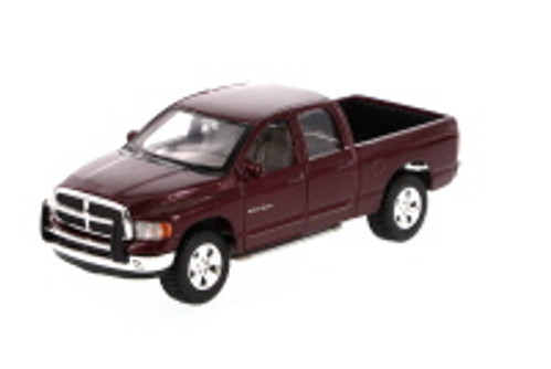 2002 Dodge Ram Quad Cab Pick-Up Truck, Burgundy - Showcasts 34963 - 1/27 Scale Diecast Model Toy Car (Brand New, but NOT IN BOX)