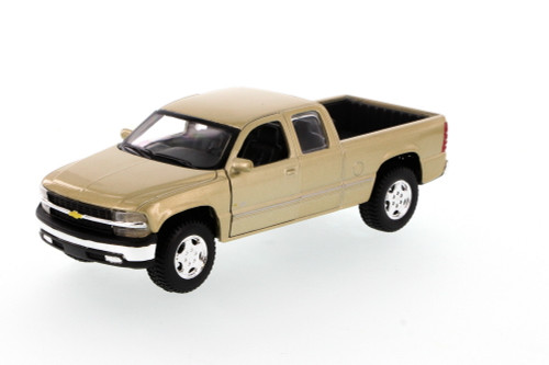 Chevrolet Silverado Pickup Truck, Beige - Showcasts 34941 - 1/27 Scale Diecast Model Toy Car (Brand New, but NOT IN BOX)