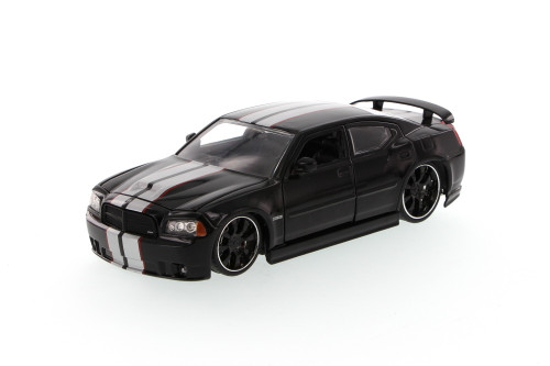 Dodge Charger SRT8, Black - Jada Toys Bigtime Muscle 90798 - 1/24 scale Diecast Model Toy Car (Brand New, but NOT IN BOX)