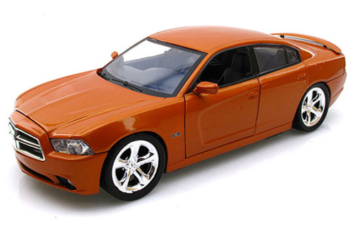 Dodge Charger, Copper Orange - Motormax 73354 - 1/24 scale Diecast Model Toy Car