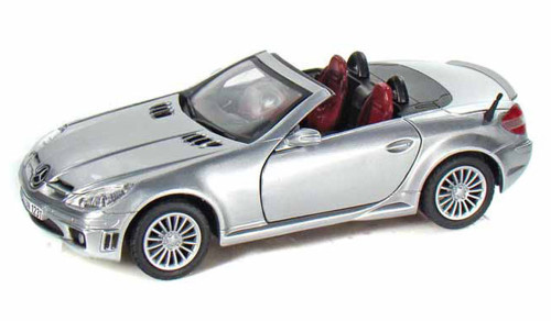 Mercedes Benz SLK55 AMG, Silver - Motormax 73292 -1/24 scale Diecast Model Toy Car