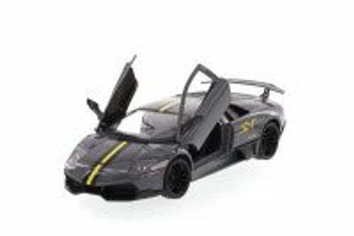 Lamborghini Murcielago LP670-4 SV, Gray - Showcasts 73350 -1/24 scale Diecast Model Toy Car (Brand New, but NOT IN BOX)