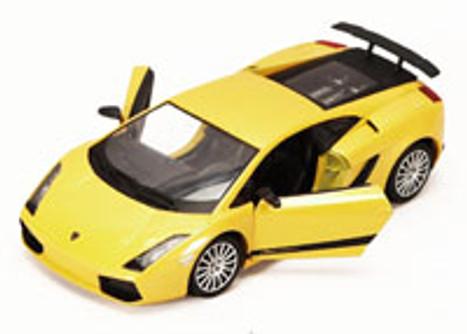 Lamborghini Gallardo Superleggera, Yellow - Motormax 73346 - 1/24 scale Diecast Model Toy Car