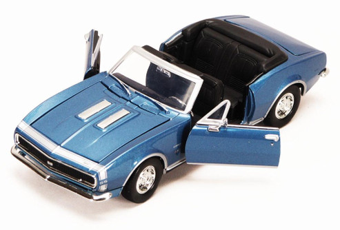 1967 Chevy Camaro SS, Blue - Motormax 73301 - 1/24 scale Diecast Model Toy Car