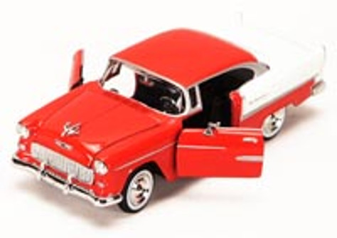 1955 Chevy Bel Air, Red - Showcasts 73229 - 1/24 scale Diecast Model Toy Car (Brand New, but NOT IN BOX)