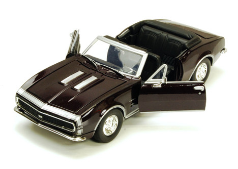 1967 Chevy Camaro SS, Burgundy - Motormax 73301 - 1/24 scale Diecast Model Toy Car
