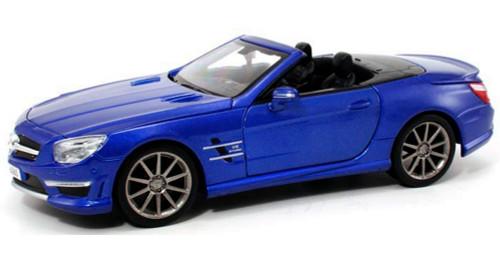 Mercedes-Benz SL63 AMG Convertible, Blue - Maisto 31503 - 1/24 Scale Diecast Model Toy Car