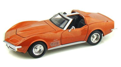 1970 Chevy Corvette T-Top, Bronze - Maisto 31202 - 1/24 Scale Diecast Model Toy Car