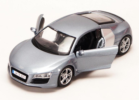 Audi R8, Metallic Blue - Maisto 34281 - 1/24 Scale Diecast Model Toy Car (Brand New, but NOT IN BOX)